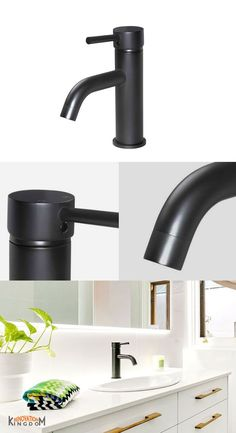Meir Round Matte Black Basin Mixer with Curved Spout Basin Mixer, Installation Instructions, Wren, Taps, Solid Brass, Matte Black, Bathrooms, Ceramics, Blue