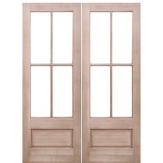 Prestige Entries 7221-2 4 Lite 1 Panel Mahogany TDL Double Entry Door with…