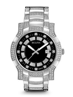 bulova 98c109 men s crystal watch bulova bulova fine men s bulova 96b176 crystal men s watch bulova