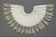 Ruff with Needle-Lace Edging, Italian, Early 1600s.