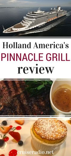 holland america pinnacle grill cruise tips travel tips Holland America Line, Holland America Alaska Cruise, Holland Cruise, Best Cruise, Cruise Tips, Cruise Travel, Patagonia, Panama Cruise, Cruise Ship Pictures