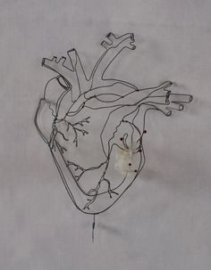 objets fils de fer sculptures et objets: Coeur