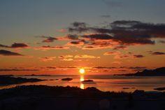 Sol etter en måned med mørketid - januar 2016  Leknes i Lofoten, Norway