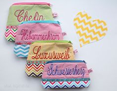 Make up bags from #waseigenes! {I heart chevron}