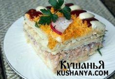 Рыбный торт с крекерами | Kushanya.Com
