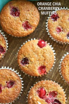 Easy Chia Orange Cranberry Muffins.1 Bowl or Blender, 6 Main Ingredients. Orange Breakfast Muffins. Vegan Nut-free Soy-free Recipe Blend up the wet and dry in a blender, pour and bake