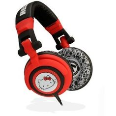Hello Kitty Headphones - Red