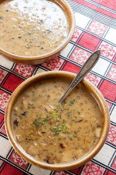 Polish Mushroom Soup (Zupa Grzybowa)