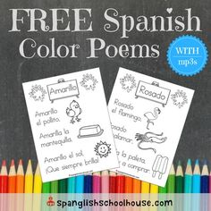 These original Spanish color poems are perfect for young learners!   Last fall, we worked through our bilingual color unit with our Preschool and Kindergartenstudents. There are an abundance of color songs out there in English, but I couldn't findthe equivalent in Spanish. There was no time to set anything so music, so I …