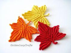 Maple Leaves Crochet Pattern by GoldenLucyCrafts on Etsy