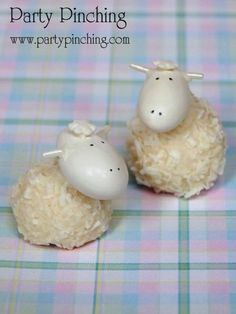 candy sheep, Ferrero Raffaello candy, Easter dessert ideas, Easter dessert table, Easter treats for kids, easy Easter desserts, Easter cupcakes, Easter cookies, Easter bunny party