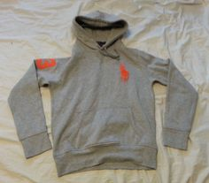 #POLO Ralph Lauren hoodie  size S light gray cotton with BIG POLO logo NWT RalphLauren visit our ebay store at  http://stores.ebay.com/esquirestore