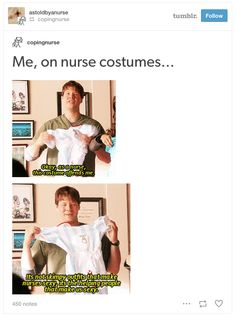 When you see people dressed as nurses on Halloween.