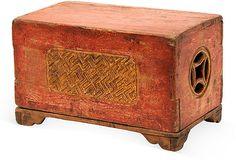 """Antique Chinese Lacquered Trunk Lillian August  14.5""""L x 8""""D x 9""""H   OneKingsLane.com"""