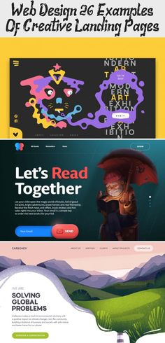 Web Design: 26 Examples Of Creative Landing Pages - Design -  - #Creative #Design #Examples #Landing #Pages #Web