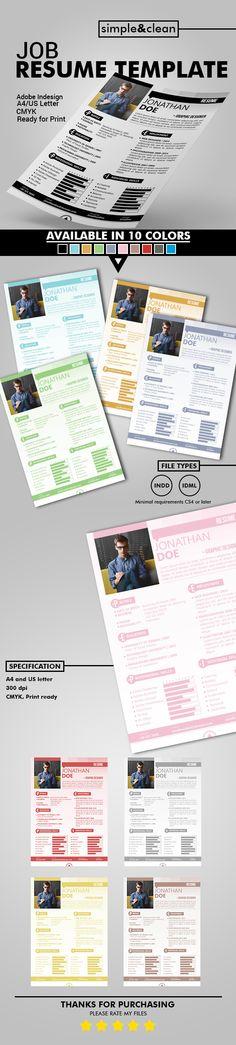 Job Resume Template on Behance