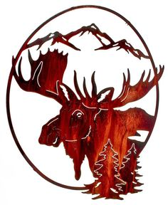 Back Country Moose Metal Art