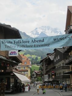 Wengen! My uncle Foto Fritz ( his shop is on the right) passed away August 13 2013!