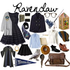 Ravenclaw Essentials by untitled-user on Polyvore featuring moda, Boden, Toast, Valentino, Biba, Abercrombie & Fitch, Falke, Cobb Hill, Django & Juliette and VIPARO