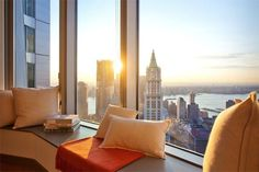 Beautiful Views from this New York Penthouse for Sale Interior Balcony, Apartment Balcony Decorating, Apartment Balconies, Balcony Design, Apartment Design, New York Penthouse, Penthouse Apartment, Manhattan Penthouse, Manhattan Apartment