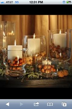 Candle decor..LOVE THIS PIC