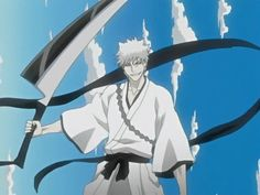 Hollow Ichigo inside of Ichigo's Soul. None Bankai sword. That's how Ichigo's sword normally looks like. Just flip the black and white.