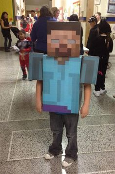 Totally gonna make my little brother wear this for Halloween. Minecraft FTW! :D