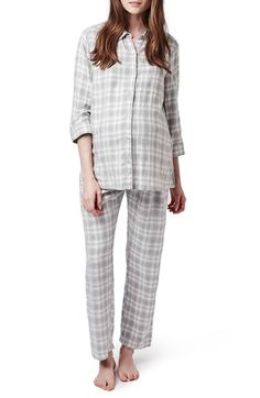 Topshop Plaid Maternity Pajamas available at #Nordstrom