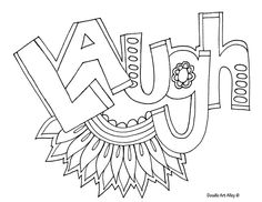Laugh Adult Coloring Pages By Myranda Savage