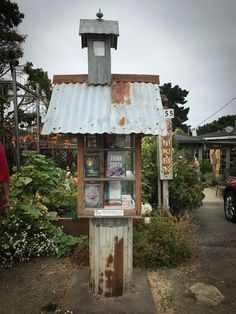 Little Free Library Plans, Little Library, Little Free Libraries, Library Inspiration, Library Ideas, Little Free Pantry, Street Library, Library Of America, Mini Library