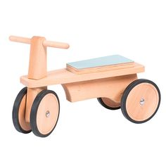 Blue Seat Steerable Wooden Ride On Ride-On Moulin Roty – Bonjour Petit Wooden Ride On Toys, Wooden Scooter, Wood Bike, Wooden Car, Wood Toys, Wooden Projects, Woodworking Patterns, Kids Wood, Montessori Toys