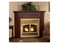 Corner Gas Fireplace Bricks | ... Package :: Factory Direct Fireplaces :: Ventless Gas Fireplaces