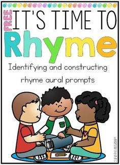 FREE Teacher-led rhyme prompts for identifying and constructing rhyme - theodora Rhyming Kindergarten, Emergent Literacy, Kindergarten Language Arts, Kindergarten Literacy, Early Literacy, Literacy Centers, Nursery Rhymes Kindergarten, Teaching Phonics, Literacy Stations