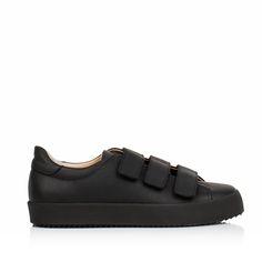 KACHOROVSKA / black leather sneakers