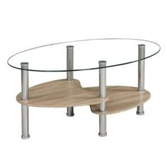 PANTY NEW acél/üveg/sonoma tölgyfa dohányzóasztal Table, Furniture, Home Decor, Products, Coffee, House, Kaffee, Decoration Home, Room Decor