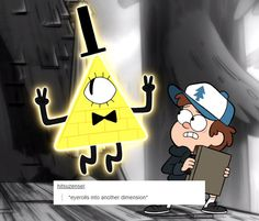 Bill Cipher eye rolls into another dimension