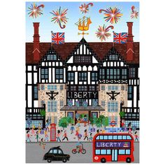 """""""@libertylondon you guys commissioned me earlier this year to create an illustration of your iconic front building for an ad for your 140th Birthday. Can I…"""" - Thanks to @mohan_ballard_illustrations via instagram * All.Art! * The Inner Interiorista"""