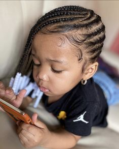 Childrens Hairstyles, Lil Girl Hairstyles, Black Girl Braided Hairstyles, Black Kids Hairstyles, Little Girl Braids, Black Girl Braids, Braids For Kids, Girls Braids, Cute Black Kids