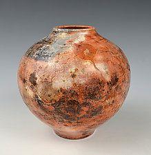 Erosions Vase - Saggar Fired by Tom Neugebauer (Ceramic Vase)