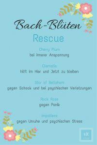 Bachblütenmischung Rescue - gegen Schock und in Notfallsituationen