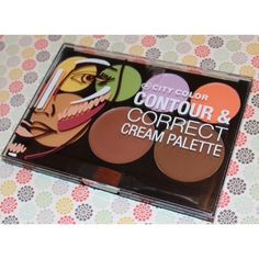 Contour & Correct Cream Palette This all-in one Contour & Correct Cream Palette allows you to seamlessly sculpt, contour and correct any color imperfections. The variety of color-correcting creams can be used on all skin tones to enhance and even-out your skin by reducing redness, discoloration and dark spots or circles. The warm light, bronze and brown cream shades can be used to conceal, brighten skin and add warmth while flawlessly slimming and sculpting out your best features. Makeup