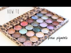 ♡ How To Naturally Press Loose Pigments ♡ Ticia's Tip Tuesday