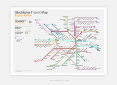 Stockholm Metro Map: Literal English Translation Poster (A2)