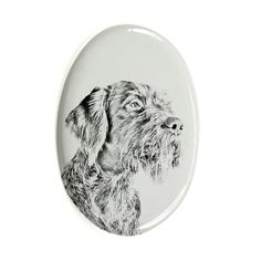 German Wirehaired Pointer, oval gravestone from ceramic tile with an image of a dog * You can find out more details at the link of the image. (This is an affiliate link and I receive a commission for the sales)