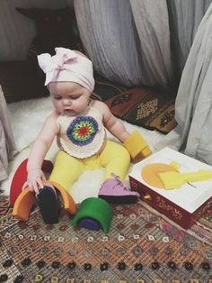 Kids  Rainbow Crocheted Halter, Crocheted Mandala top,Kids and Baby Fashion, Crocheted Hippie top, - pinned by pin4etsy.com