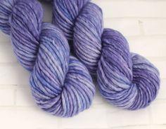 Violetta Purple - Bulky Hand Dyed Yarn - Single Ply Super Chunky Yarn - Hand Dyed Knitting Yarn - Arm Knitting -Super Bulky Superwash Yarn by ClementineAndThread on Etsy