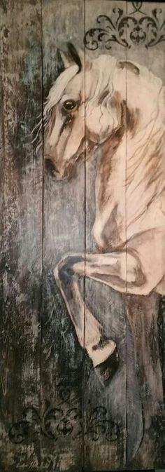 Horse Art painted on pallet wood
