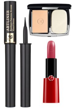 """Get Leslie Caron's face in """"Gigi"""" with a matte foundation and rosy red lip:"""