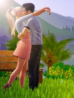 Such a cute pose for a sims couple