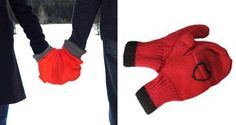 Smitten Mittens - Hand Holding Mittens for Couples Hand Holding, Holding Hands, Funny Valentines Gifts, Mittens, Couples, Fashion, Fingerless Mitts, Moda, Hold Hands